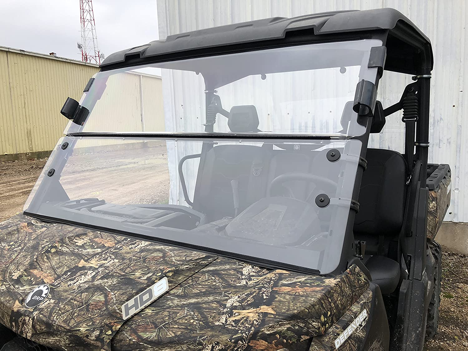 2016-2021 A&S AUDIO AND SHIELD DESIGNS CAN-AM DEFENDER 3/16 STANDARD POLYCARBONATE FOLD DOWN AND REAR WINDSHIELD