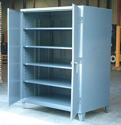 "Heavy Duty Storage Cabinet, Dark Gray, 66"" H X 36"" W X 36"" D, Assembled"