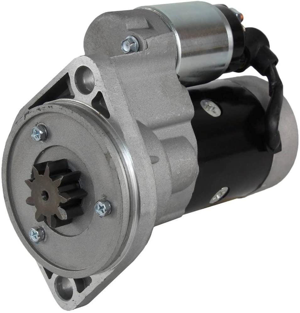 Rareelectrical NEW STARTER COMPATIBLE WITH YANMAR 4CYL DIESEL 1996-2008 S13-138 S13-138A 129953-77010 129953-77019 S13138 S13138A 12995377010 12995377019
