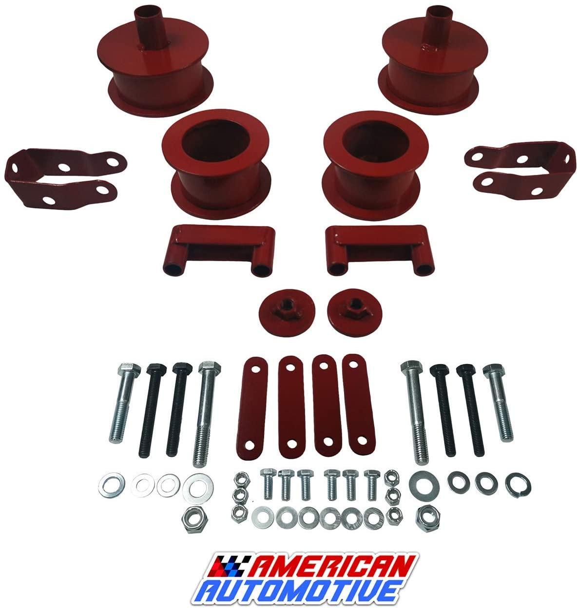 American Automotive Wrangler JK Full Lift Kit Red 3