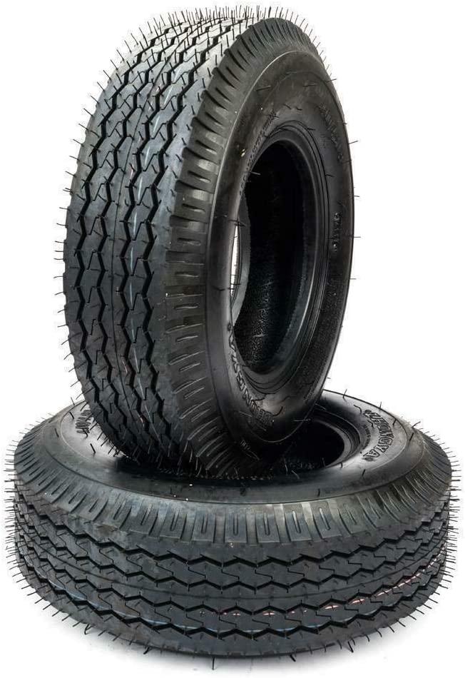 Set of (2) Trailer Tires 4.80-8 4.80x8 4.80/4.00-8 Tubeless 4PR P819 Tubeless Tires