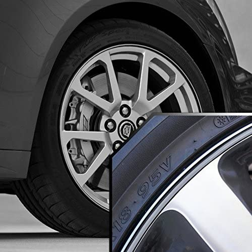 Upgrade Your Auto Wheel Bands Silver in Black Pinstripe Edge Trim for Cadillac STS 13-22