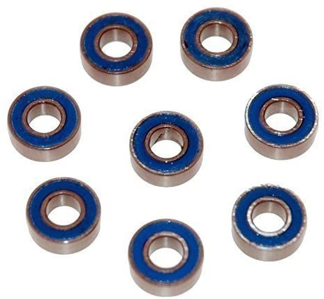 Genuine Traxxas 5116 Ball Bearings Bundle, Blue Rubber Sealed 5x11x4mm - Set of Eight TRA5116 for Slash, Rustler, Stampede, Bandit