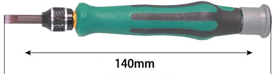 LOadSEcrHome Improvement Tools 70 in 1 S2 Steel Household Magnetic Precision Screwdriver Set Repair Kit Handyman Tool - Green
