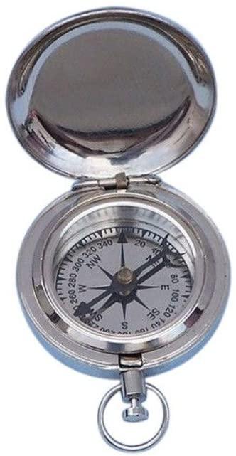 Hampton Nautical 3xglass-101 Chrome Scout's Push Button Dalvey Compass 2