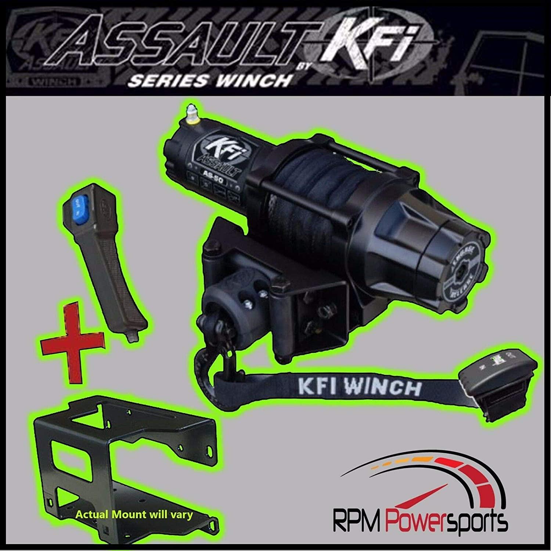 New KFI 5000 lb UTV Winch & Mount- 2015 Polaris Ranger 570 4x4 Full-Size