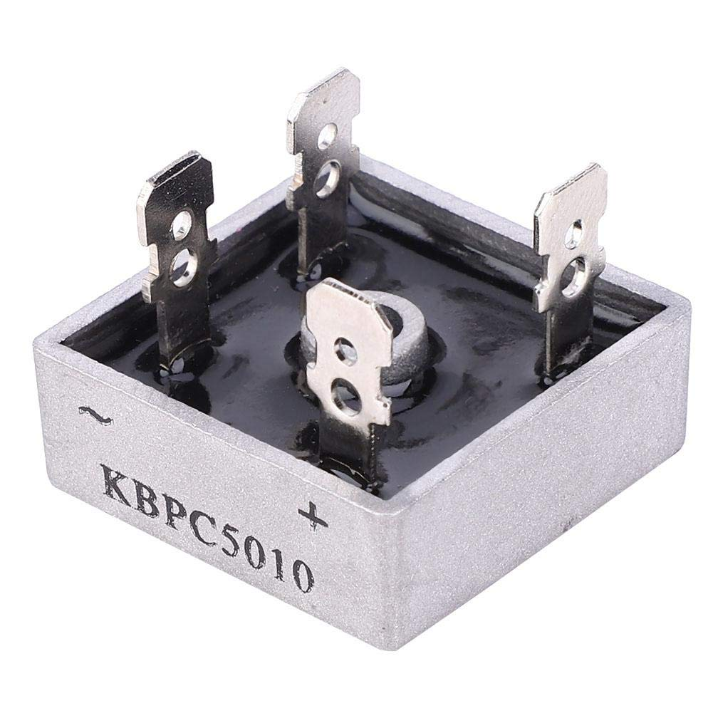 10 Pcs Resin Package Rectifier Bridge KBPC5010 Single Phase Low Frequency Rectifier Bridge