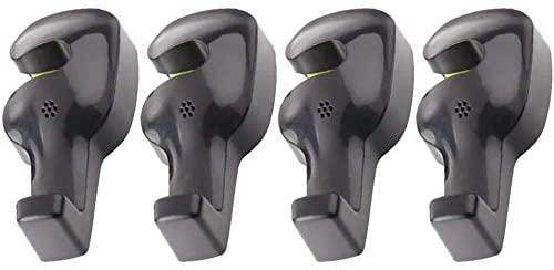 SQINAA Car Vehicle Back Seat Hanger Holder Hook Universal for Bag Purse Cloth Grocery,Black,x4