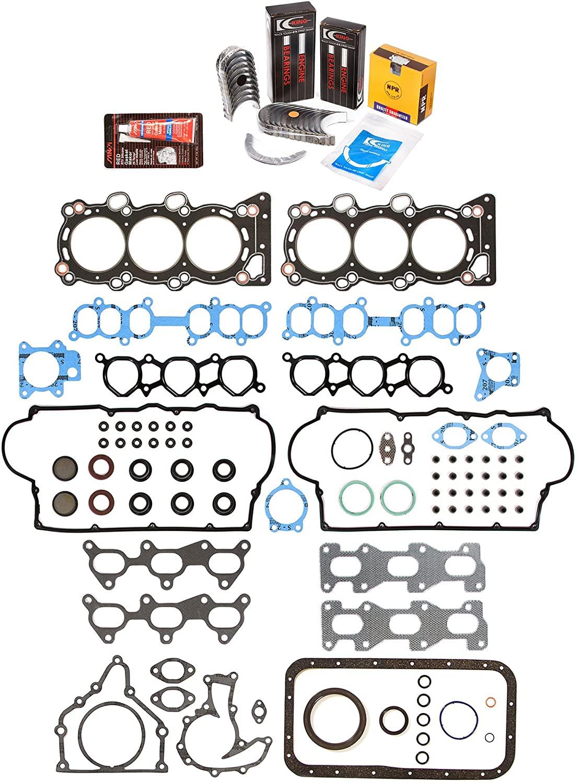 Evergreen Engine Rering Kit FSBRR7009\0\1\1 Compatible With 96-97 Honda Acura Isuzu 3.2 6VD1 Full Gasket Set, 0.25mm / 0.010