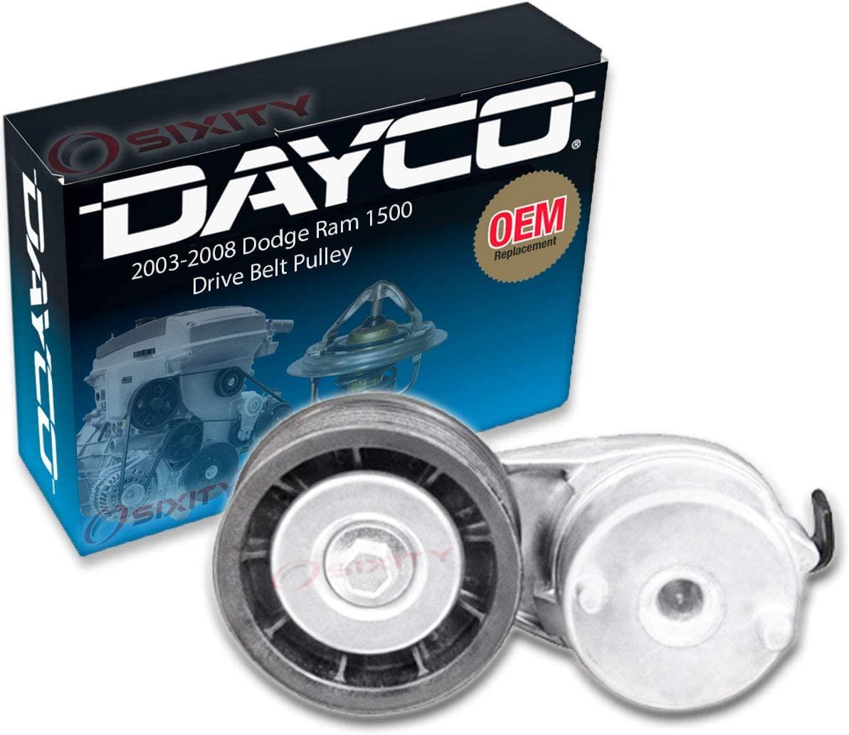Dayco Drive Belt Pulley for 2003-2008 Dodge Ram 1500 5.7L V8 - Tensioner Alternator Pump Accessory System