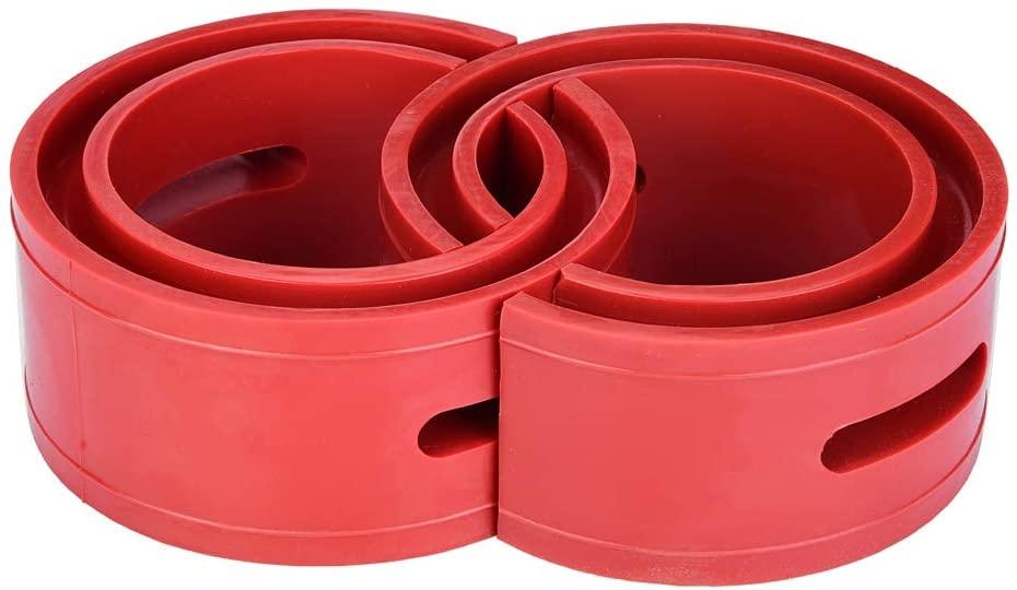 Shock Bushings, 2pc Red Car Shock Absorber Buffer Spring Bumper Cushion Type A-F(B)