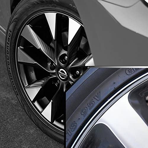 Upgrade Your Auto Wheel Bands Silver in Black Pinstripe Trim for Toyota Highlander 13-22 Rims
