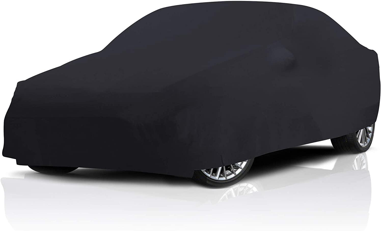 Stretch Indoor Black Satin Full Car Cover for Mercedes-Benz C63 AMG 2014-2018