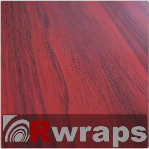Mahogany Wood Grain Film Vinyl Sheet Roll Wrap - 12