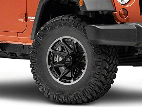 Mammoth Type 88 Black Wheel 16x8 Aggressive Styling Rim for Jeep Wrangler JK 2007-2018