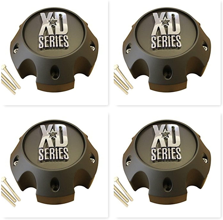 4 Pack KMC XD Series 796 797 798 Matte Black 5 Lug Wheel Rim Center Cap 1079L140A