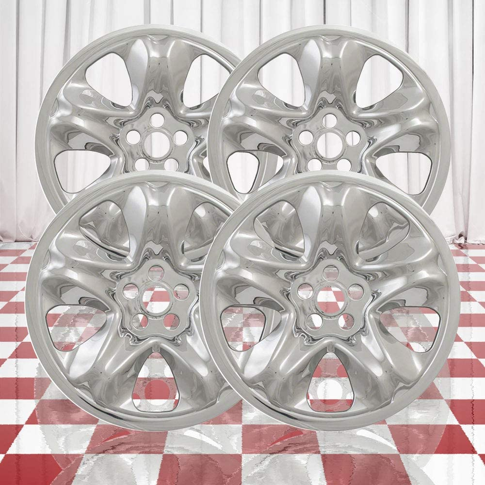 Brighter Design Set of 4 Front and Rear Chrome 5 Spoke 17