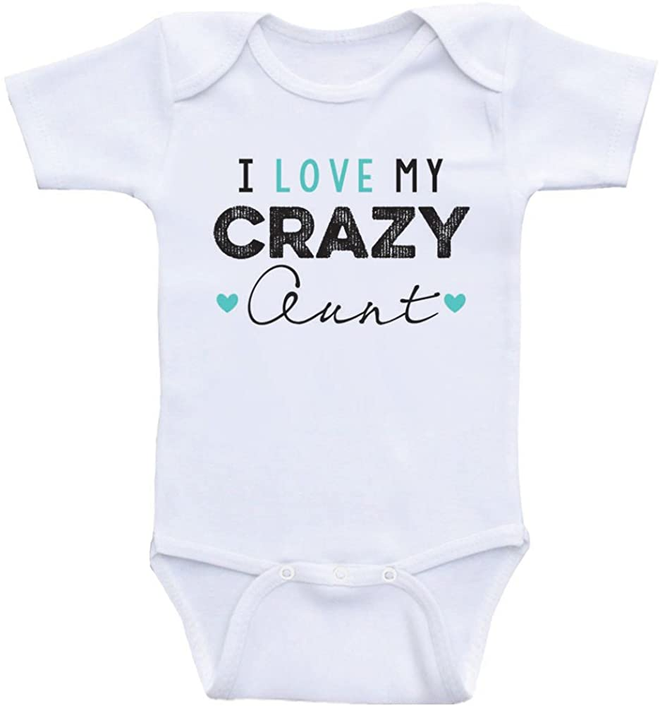 Aunt Baby Clothes I Love My Crazy Aunt Funny Baby Onesies for Boy or Girls