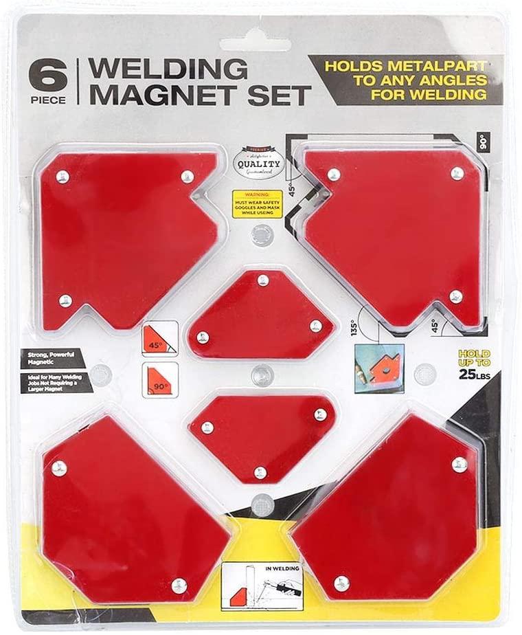 Portable Magnetic Welding Holder, Safe Steel Positioner Welding Tool, Internal Angle Fixation Pipe Installation Marking for Welding