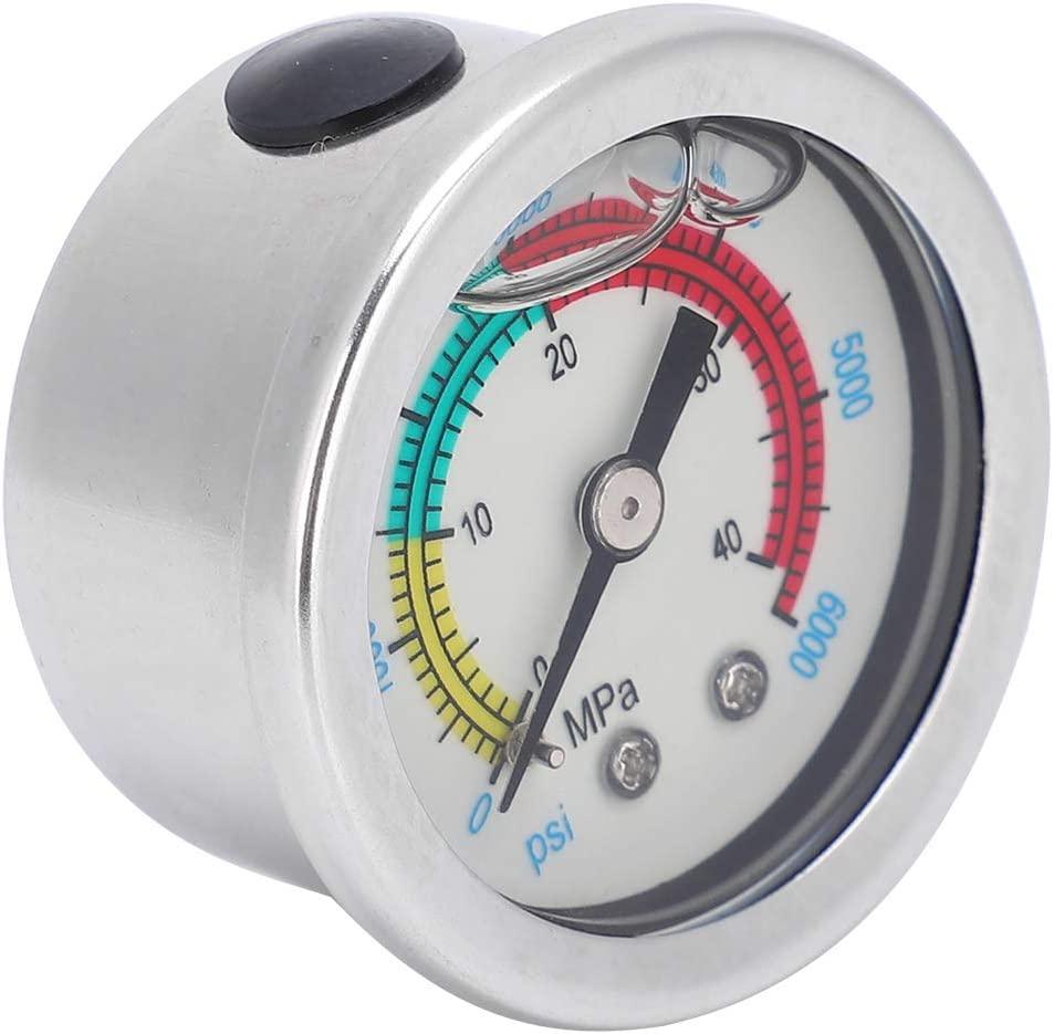 Pump Pressure Gauge Air Pump Pressure Gauge 40MPA 6000psi Oil Filling Diving Rebreather Equippment Manometer