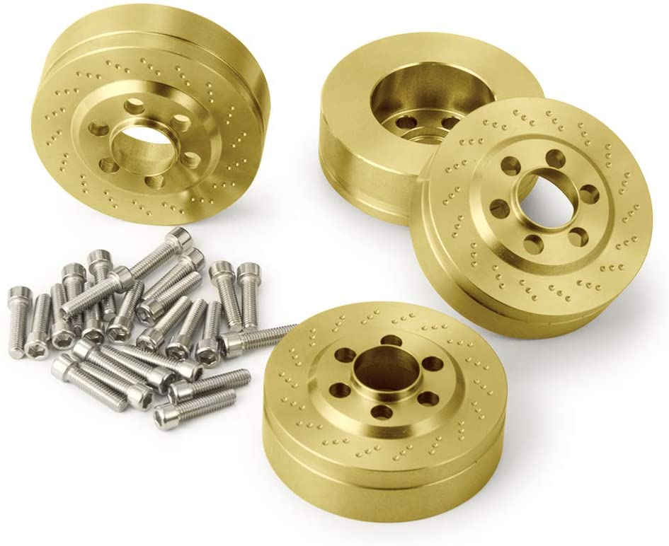 Brass Wheel Weight for 1/10 RC Axial Wraith RR10 YETI SCX10 D90 TRAXXAS TRX4 CC01 2.2