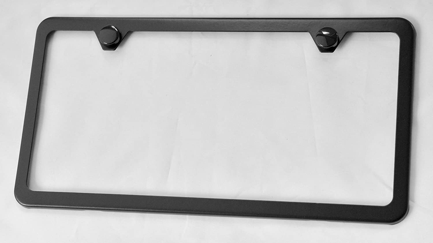 Slim Stainless Steel License Plate Frame Black New