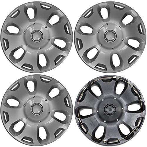 Motorup America Auto Hubcap Set of 4, 15 inch Wheel Covers - Fits 10-13 Ford Transit Connect