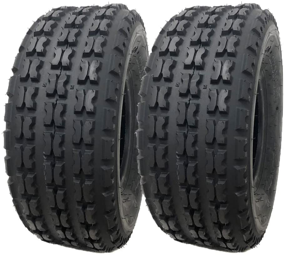 MMG Set of 2 ATV Tubeless Tire 19x7-8 (175/80-8) Split-knob Tread Design for all terrains - Front Tires provide solid traction and control (P136A)