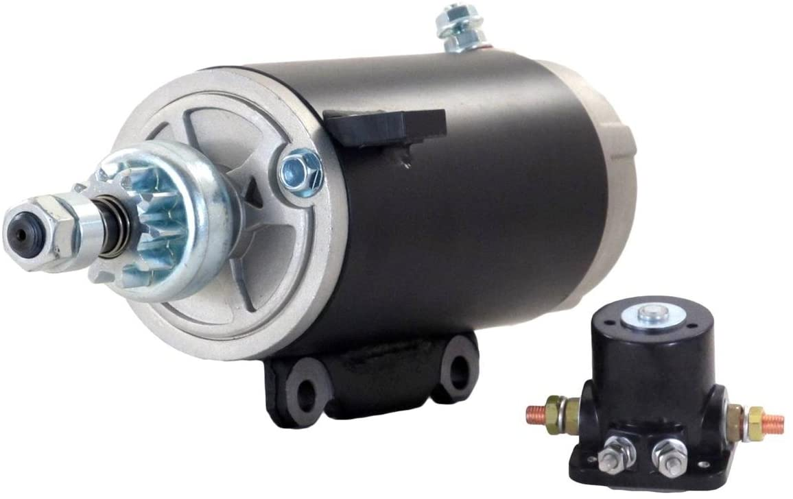 Rareelectrical STARTER MOTOR COMPATIBLE WITH & SOLENOID 81-94 JOHNSON MARINE OUTBOARD 80 90 HP 586282 SM02465