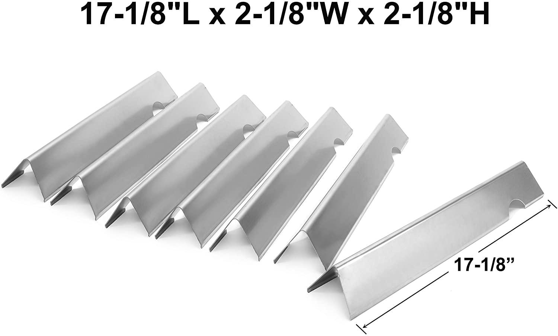 Broilmann Stainless Steel Flavorizer Bars for Weber Genesis II SE-410, Genesis II and Genesis II LX 400 Series Gas Grill, 7pcs, 18Ga.