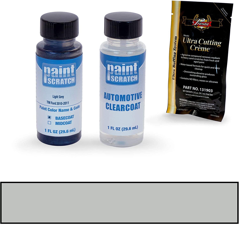 PAINTSCRATCH Touch Up Paint Bottle Car Scratch Repair Kit - Compatible with Ford Police Car Light Grey (Color Code: TM)