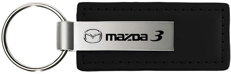 Au-TOMOTIVE GOLD Mazda 3 Keychain & Keyring - Premium Leather