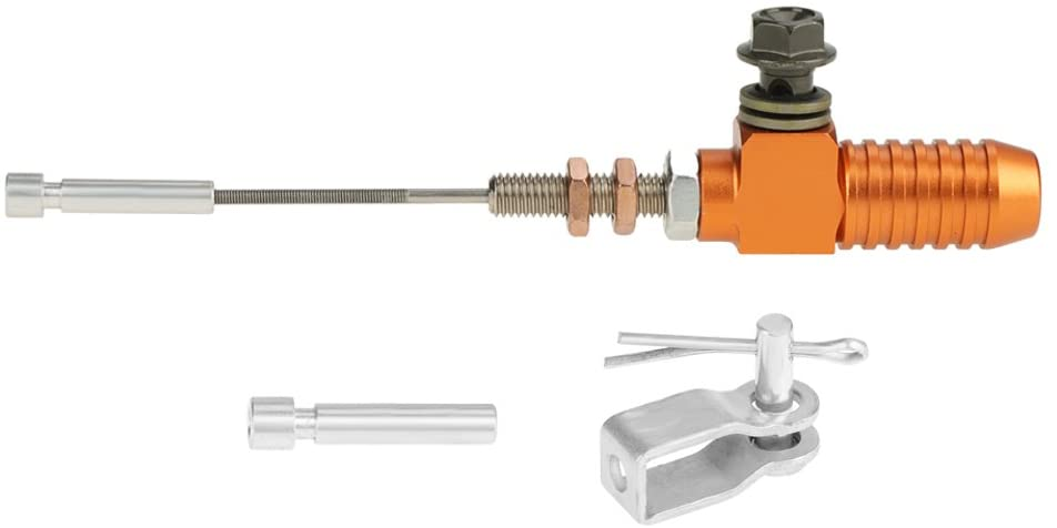 Vobor Universal Motorcycle Brake Pump for Hydraulic Clutch Master Cylinder Rod (M10x1.25mm)(orange)
