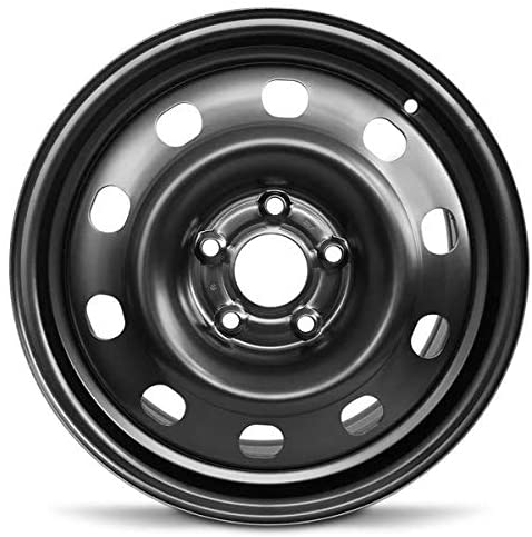 Road Ready Car Wheel For 2013-2020 Dodge Journey Dodge Caravan 17 Inch 5 Lug Black Steel Rim Fits R17 Tire - Exact OEM Replacement - Full-Size Spare