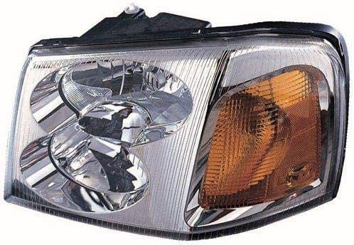 Go-Parts - for 2002 - 2009 GMC Envoy XL Front Headlight Assembly Housing / Lens / Cover - Left (Driver) Side 15866071 GM2502220 Replacement 2003 2004 2005 2006 2007 2008