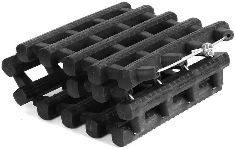 Akozon Tire Traction Mat Board 60cm/23.6in Recovery Emergency Track Tire Ladder Anti-Skid Chains for Ice Snow Sand