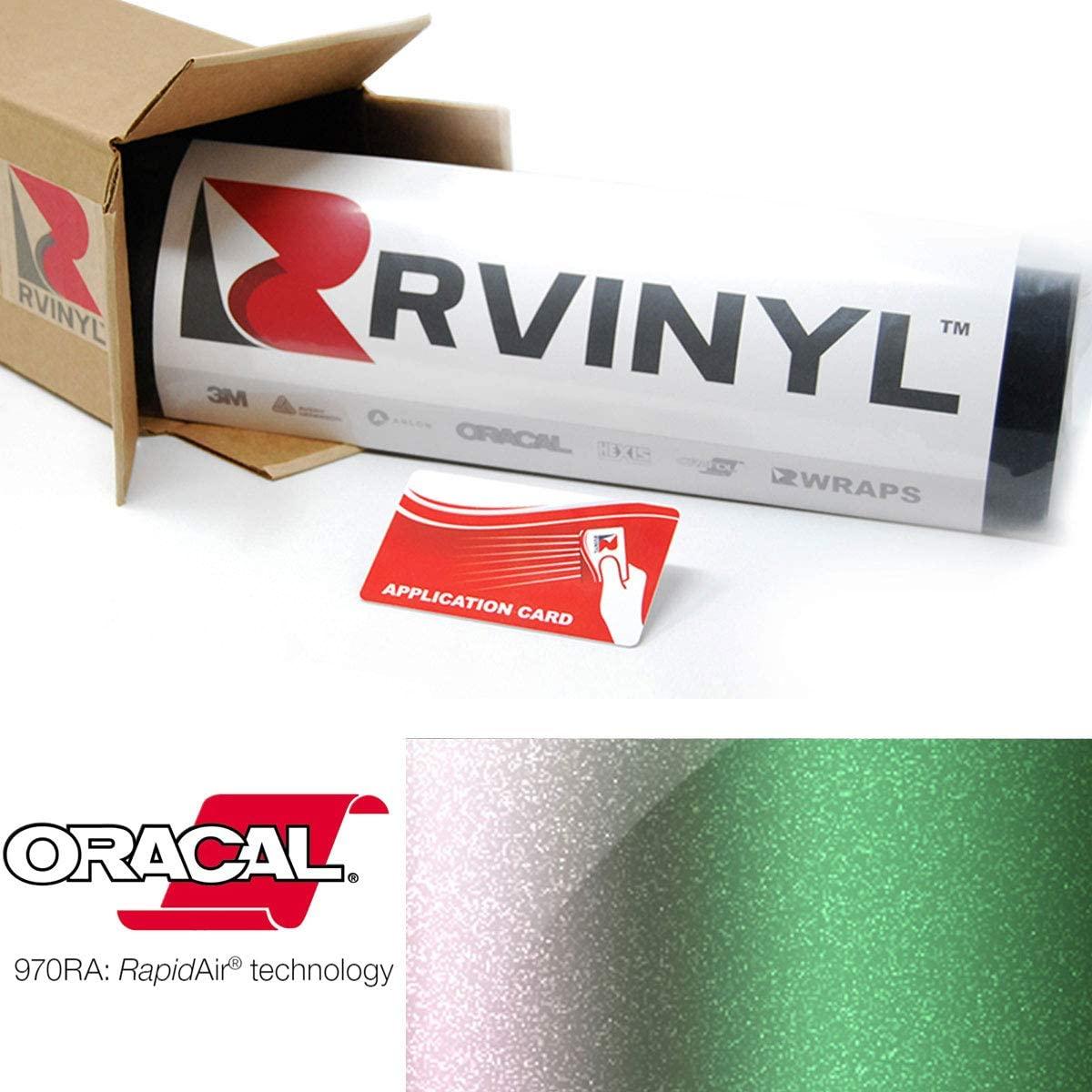 ORACAL 970RA Shift Effect Gloss Avocado 317 Wrapping Cast Film Vehicle Car Wrap Vinyl Sheet Roll - (1ft x 5ft w/App Card)