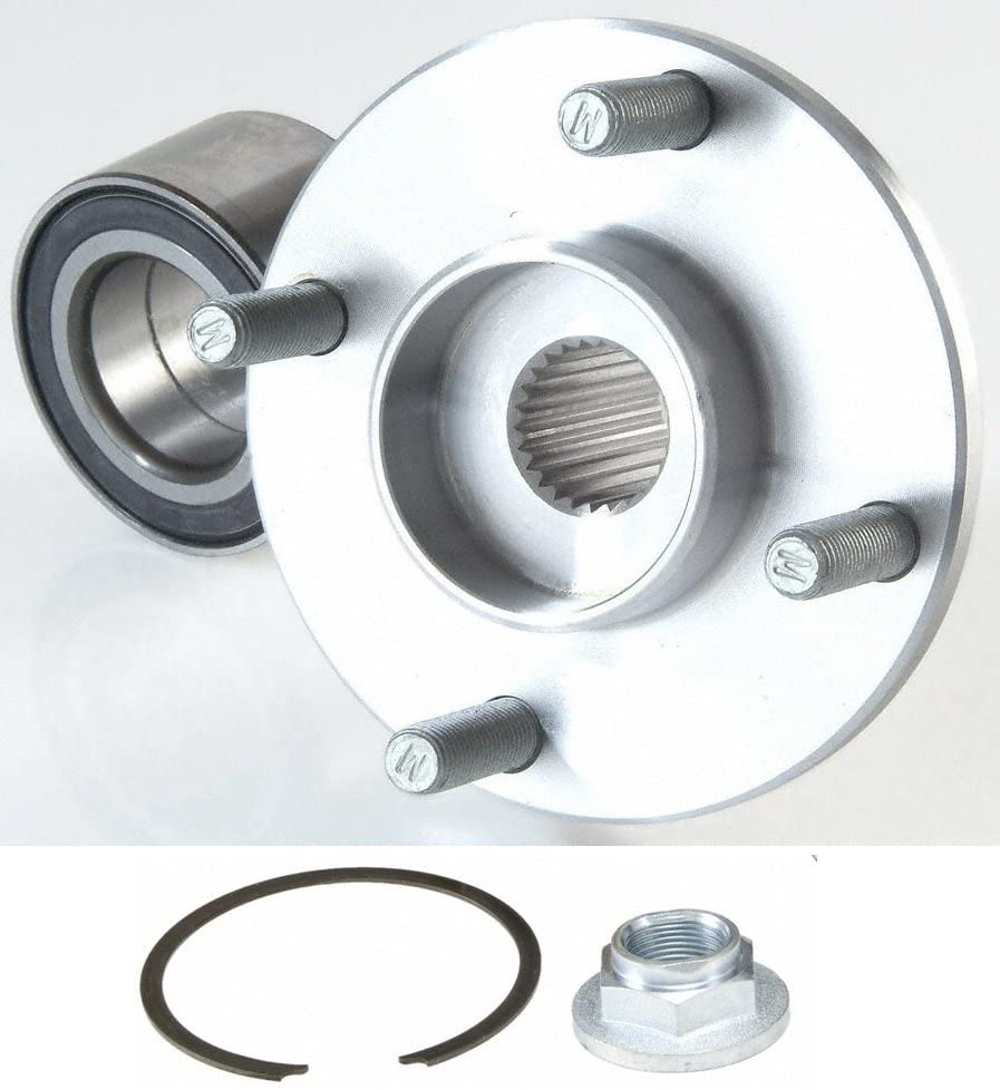Stirling - 2005 For Ford Focus Front Wheel Bearing and Hub Assembly x 1 (Note: Kit = Flange, Bearing, Nut, and Snap Ring. Black Side Toward Sensor)