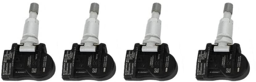 Acouto Tire Pressure Sensor Kit, 4PCS Car TPMS Tire Pressure Monitor Sensor Set Fit for Elantra (AD) (11/2015 -), 52933B1100 52933-3N100