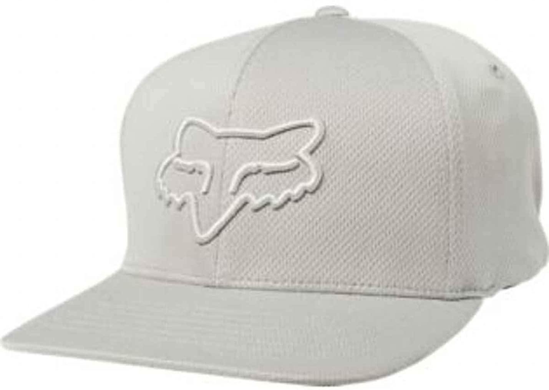 Fox Racing Men's Lithotype '19 Flexfit Hats,Large/X-Large,Grey/Light Grey