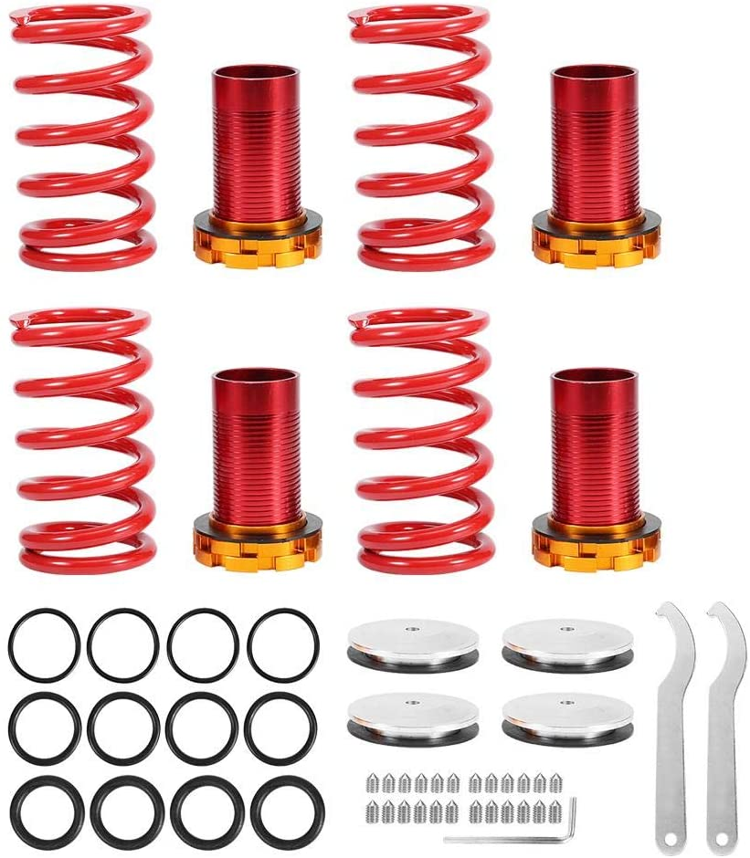 KIMISS Car Front and Rear Coilover Suspension Spring Kit for Civic 1988-2000/ CRX 1988-1991 /Del Sol 1988-2000
