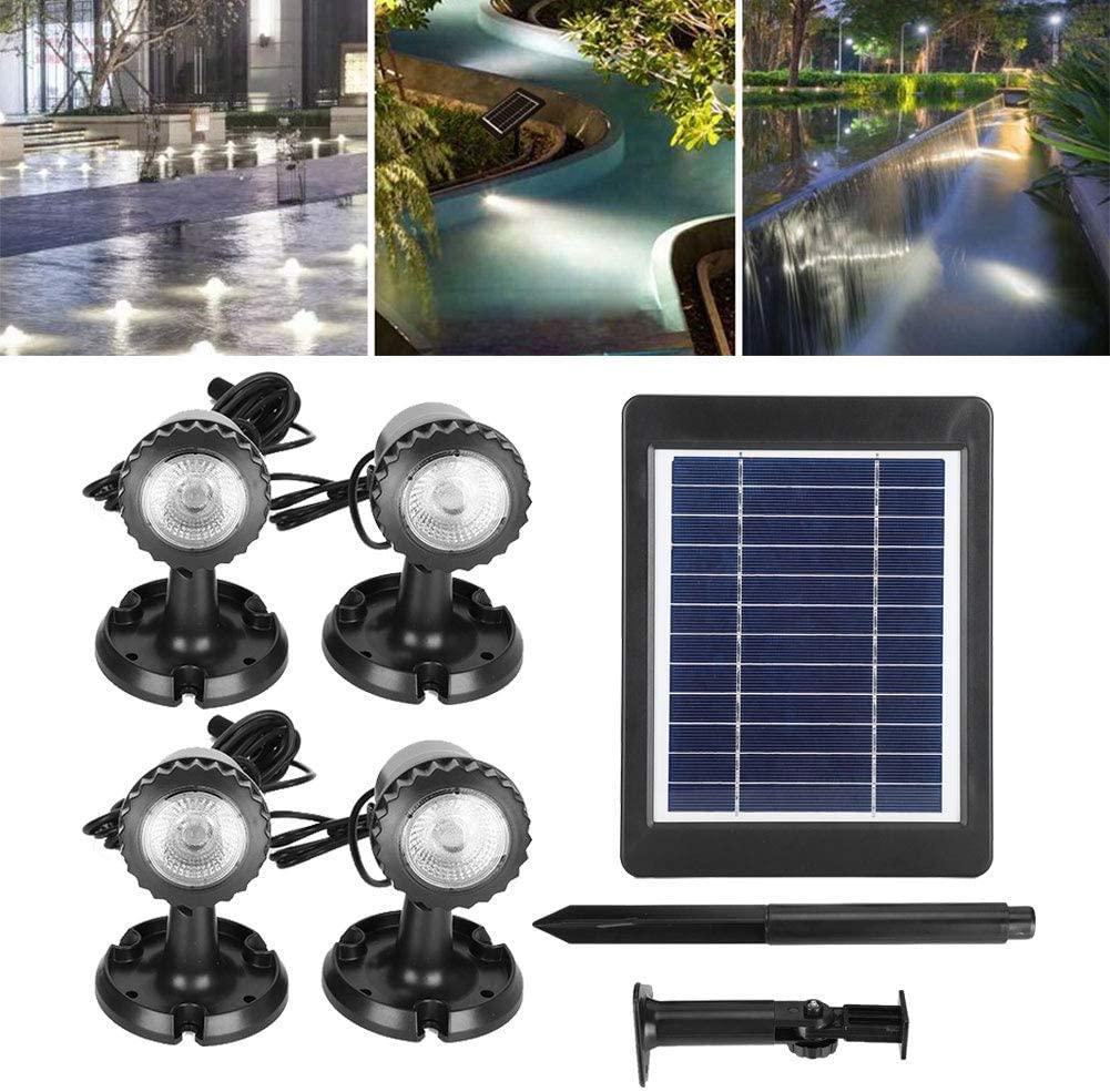 Solar Spotlight Outdoor Waterproof LED Spot Lamp Pool Lamp Pond Lights Security Lighting for Garden Lawn Patio Yard Aquarium