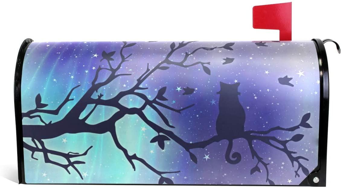 Fengye Galaxy Aurora Cat Tree Mailbox Magnetic Cover Medium Large Capacity Post Box Covers