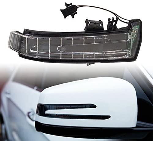 YUK Right for Mercedes W204 W212 W221 W176 W246 X204 W218 LED Side Mirror Marker Turn Signal Light Lens Yellow Light