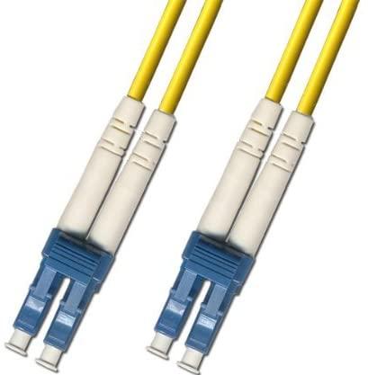0.2 Meter (7IN) Singlemode Duplex Fiber Optic Cable (9/125) - LC to LC - Yellow