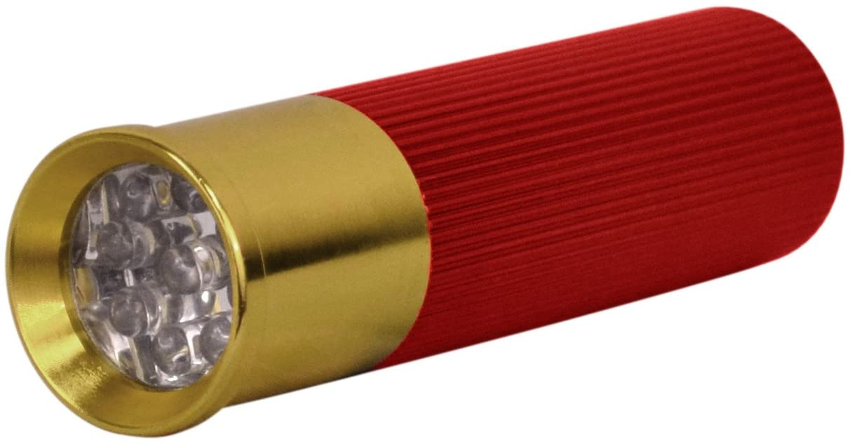 Shotgun Shell Flashlights - 3 Pack, LED, Aluminum, with batteries