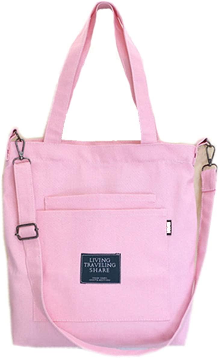Womens Canvas Handbags Simple Casual Top Handle Tote Bag Crossbody Shoulder Bag