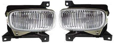 Front Fog Light Assembly Compatible with 2000-2006 Toyota Tundra with Steel Bumper Set of 2 Passenger and Driver Side