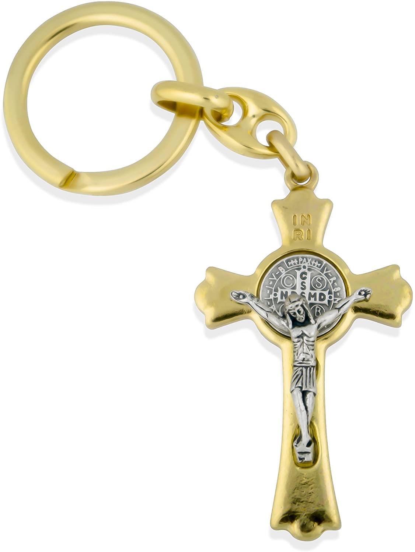 Catholic Saint Benedict Key Chain with 2