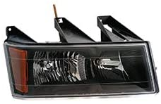 For 2004-2012 Chevy Colorado Head Light Passenger Side GM2503234 w/black bezel; except Extreme - replaces 20766570